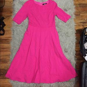 Dresses & Skirts - Hot pink midi dress
